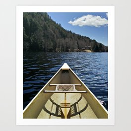 Canoe Ride Art Print