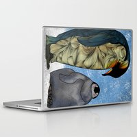 technology Laptop & iPad Skins featuring Emperor Penguins by Ben Geiger