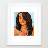 aaliyah Framed Art Prints featuring Aaliyah Painting by Anthony Nold