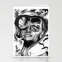 fear and loathing Stationery Cards featuring Fear and Loathing by Tufty Cookie