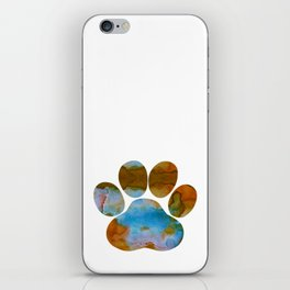 Dog Paw Print iPhone Skin
