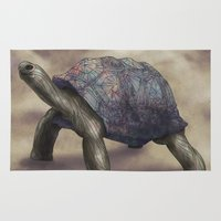 tortoise Area & Throw Rugs featuring Tortoise by Ben Geiger