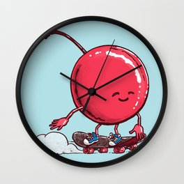 The Cherry Skater Wall Clock