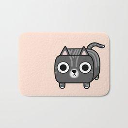 Cat Loaf - Grey Tabby Kitty Bath Mat