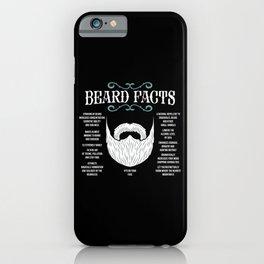Beard Facts | Facial Hair iPhone Case