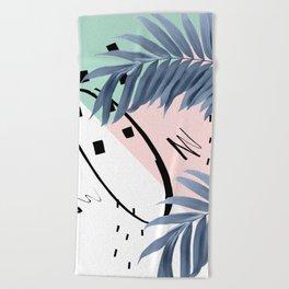 Summer Palms Cali Vibes Abstract Glam #1 #tropical #decor #art #society6 Beach Towel