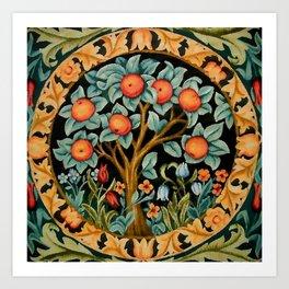 William Morris Orange Tree Art Print