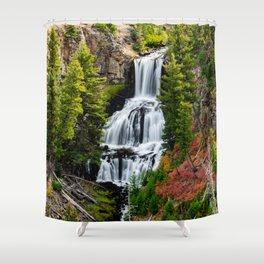 Undine Falls In Yellowstone National Park Shower Curtain