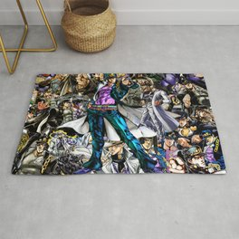Jotaro Kujo - Anime JOJO collage series Rug