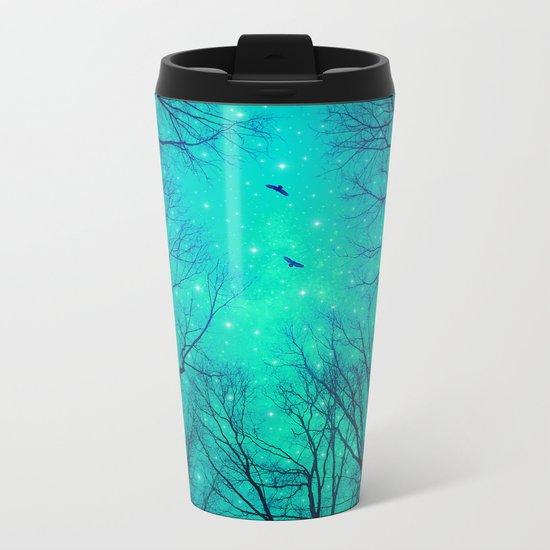 A Certain Darkness Is Needed II (Night Trees Silhouette) Metal Travel Mug