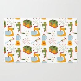 Retro Kitchen - Orange and Green Rug