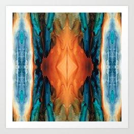 The Great Spirit - Abstract Art By Sharon Cummings Art Print
