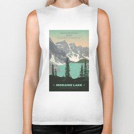 Moraine Lake Poster Biker Tank