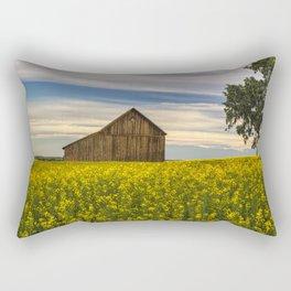 Dazzling Canola in Bloom Rectangular Pillow