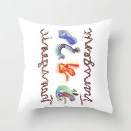 Transgenic Ram's Head Throw Pillow