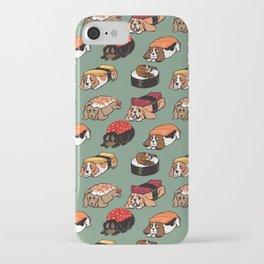 Sushi  Basset Hound iPhone Case