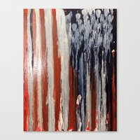 american flag Canvas Prints featuring American Flag by Matt Pecson