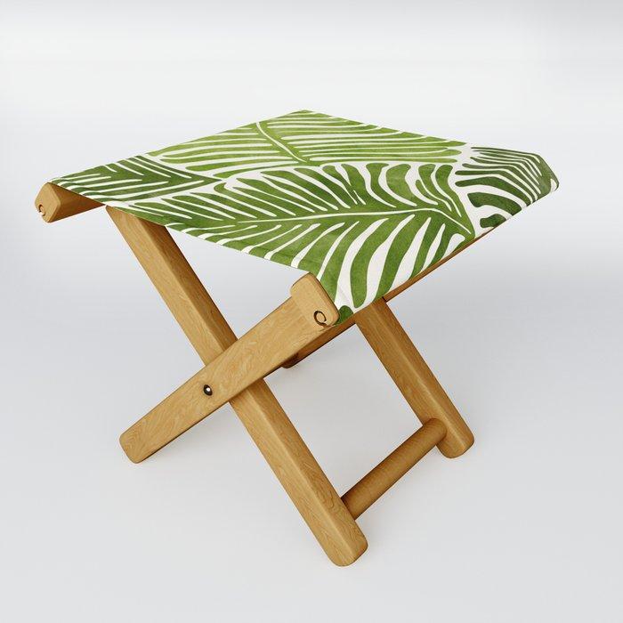 Summer Fern / Simple Modern Watercolor Folding Stool