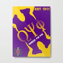 Omega Psi Phi (Divine Nine Series) Metal Print