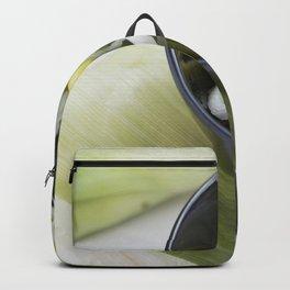 Cut fresh leek in a bowl Backpack