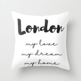 London Print Throw Pillow