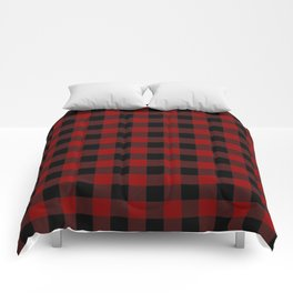 Red and Black Plaid Comforters
