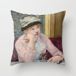 Manet,Fine Art,Beautiful,Wall Art,Framed,Poster,Canvas,Prints,Notebooks,Card,Gift,Gifts,Special,Rare Throw Pillow
