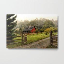Red Barn Metal Print