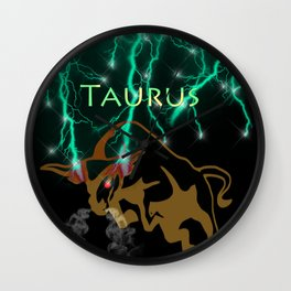 Taurus Birth Sign Wall Clock