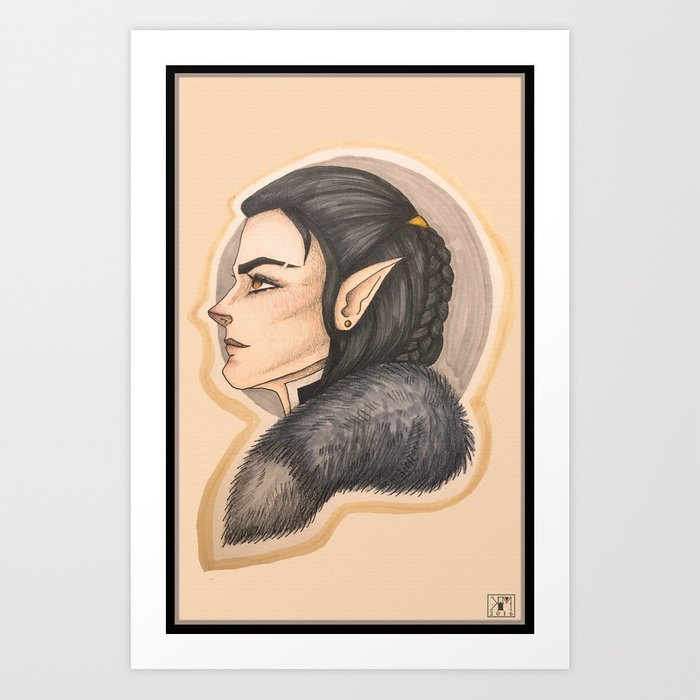 Vax The Half Elf Rogue Art Print By Shadocanary Society6