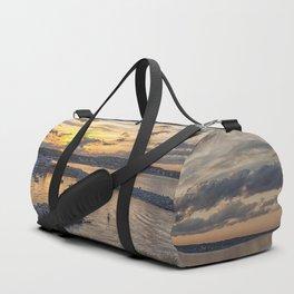 Sunset over Rockport Harbor 6-9-18 Duffle Bag