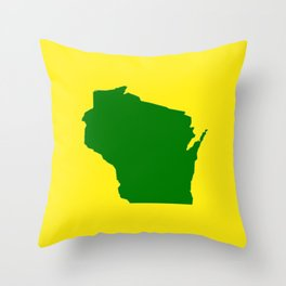 Wisconsin Football Throw Pillow