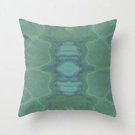 Art Nouveau Green Panel Throw Pillow
