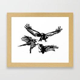 Crow Parliament Framed Art Print