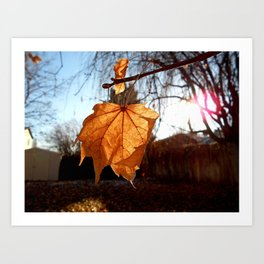 I ♥ Autumn Art Print