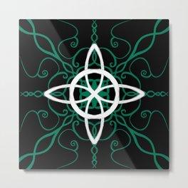 Witch Cross Sigil Metal Print