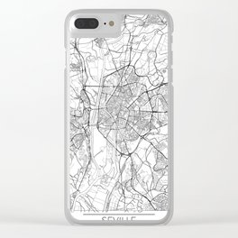 Seville Map White Clear iPhone Case