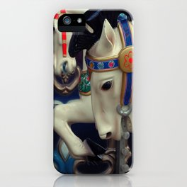 horse on the carousel iPhone Case