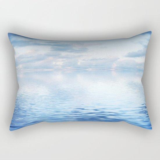 Blue ocean #reflection Rectangular Pillow