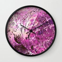 texture in fuchsia Wall Clock