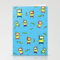 scuba Stationery Cards featuring Scuba Scuba by Steph Chen