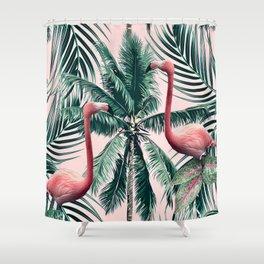 Flamingo tropics Shower Curtain