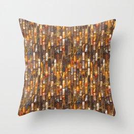 Gold Glass Tile Texture Throw Pillow