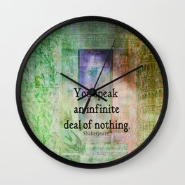 Shakespeare insult Quote from Merchant of Venice Wall Clock