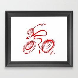 Bicycle - Red Ribbon Rider Framed Art Print