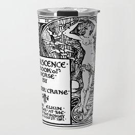 Antique Book Plate Walter Crane Travel Mug