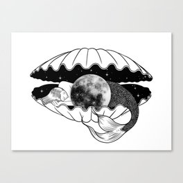 The moon under the sea Canvas Print