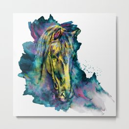 Horse Chained Beauty Metal Print