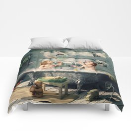 """H. Ch. Andersen tale motive  """"The Ugly Duckling"""" Comforters"""