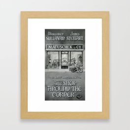 The shop around the corner Framed Art Print
